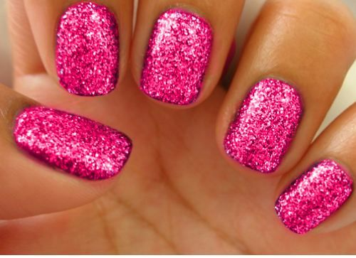 Pink & Glitter: Pink Sparkle, Pink Glitter Nails, Nails Art, Pink Nails, Nailpolish, Sparkle Nails, Nails Polish, Sparkly Nails, Glitternail