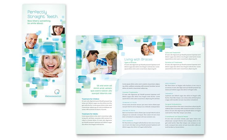 Orthodontist  Dentist Brochure, Postcard and Flyer Designs