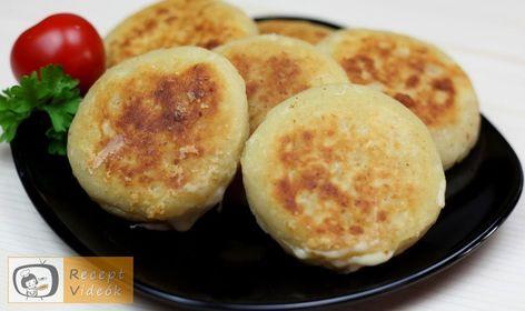 Sajttal-sonkával töltött krumplipalacsinta - Recept videók