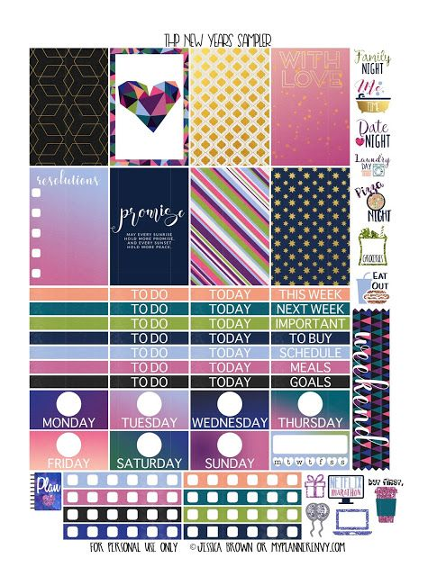 New Years Sampler for the Classic Happy Planner from myplannerenvy.com