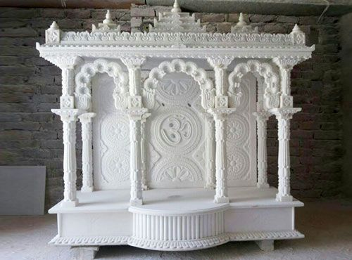 174 best images about puja mandir on pinterest hindus for Home mandir designs marble