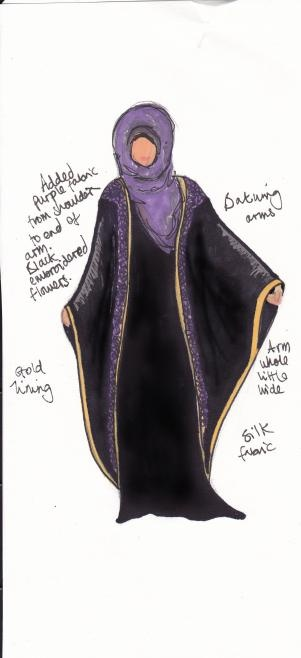 abaya design. Very lovely.