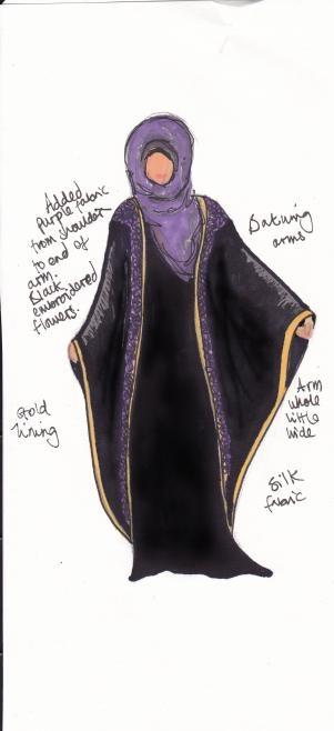 abaya design. Very lovely.