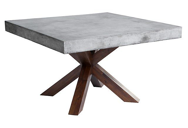 This Clean Lined Square Dining Table Features A 10cm