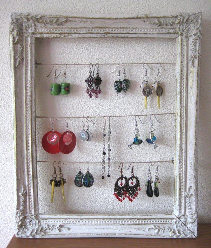 Oorbellen opbergen  # oorbellen, opbergen, diy, zelf maken