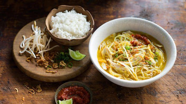 Chicken noodle soup (soto ayam) recipe : SBS Food