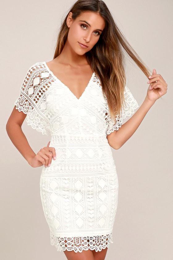 44092fc280ea  OOTD  Summer  AdoreWe  Lulus -  Lulus First Kiss White Lace Dress - Lulus  - AdoreWe.com  backtoschool