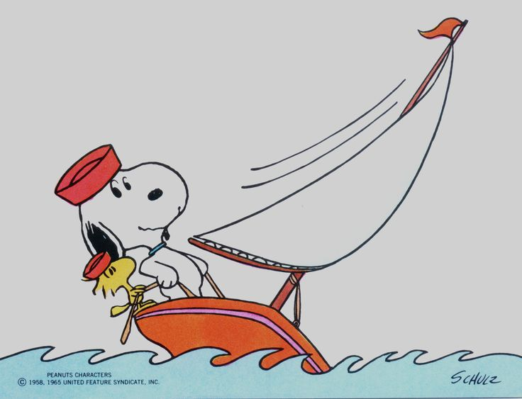 Snoopy at the helm