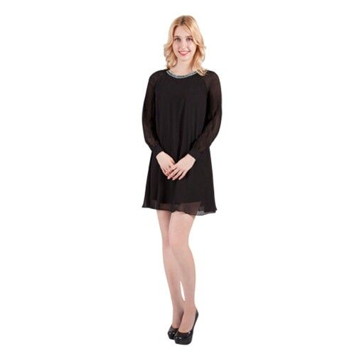 Loose fit dress with long sleeves, can really dress this up