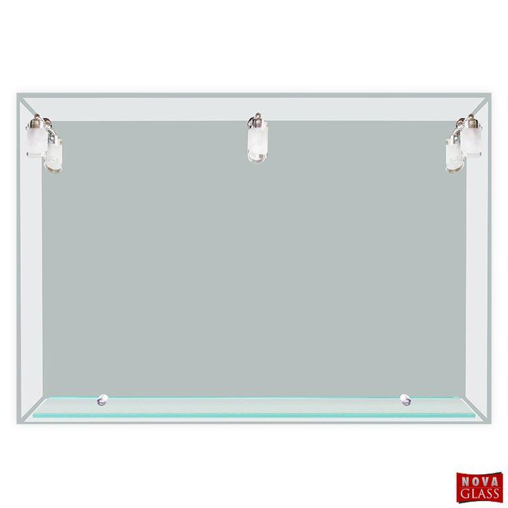 Καθρέπτης Μπάνιου 120Χ80 με 3 φωτιστικά και εταζέρα Νο 153