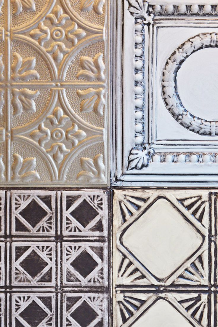36 best tin classic modern patterns images on pinterest tin american tin handpainted tiles from contour interior design dailygadgetfo Images