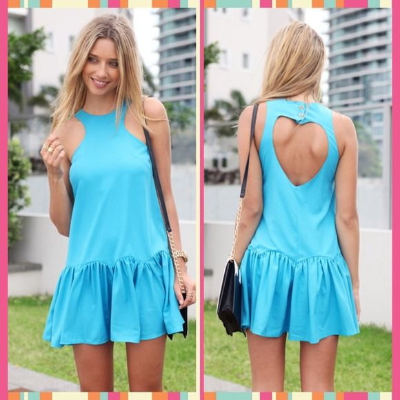 Saboskirt Blue Heart Back Dress New! XS but fits like small/medium. Check out sizing chart! Saboskirt Dresses
