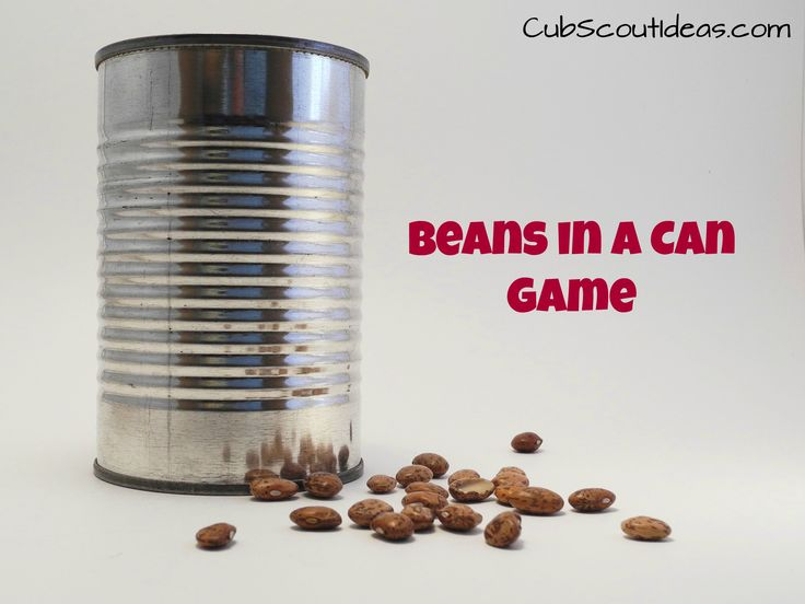 "The ""Beans in a Can"" game makes a great Cub Scout gathering activity."