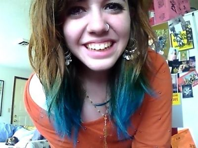 brown with blue tips hair - Google Search