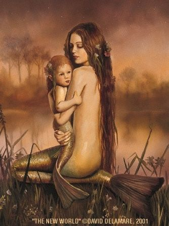 Mermaid by Jackie62 with her child