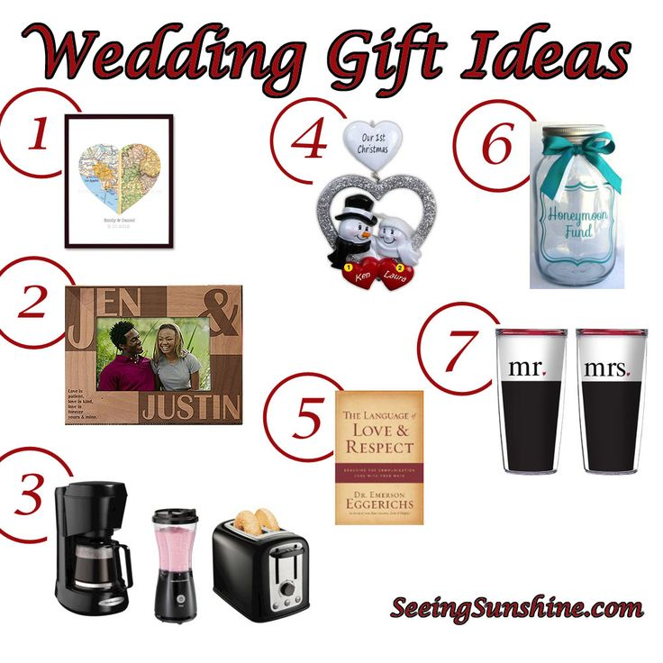 wedding gift ideas for every bride and groom including links to the ideas great for