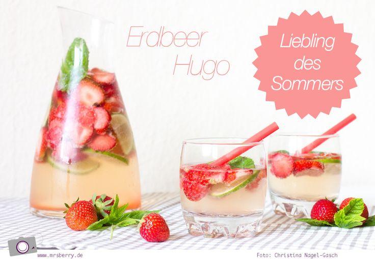 Sommer Bowle: Erdbeer Hugo - mit oder ohne Alkohol