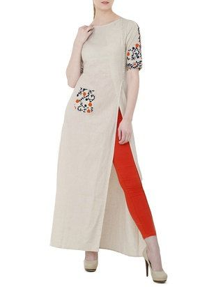 Check out what I found on the LimeRoad Shopping App! You'll love the natural color khadi long high slit kurta. See it here http://www.limeroad.com/products/13079593?utm_source=f57b9413ea&utm_medium=android