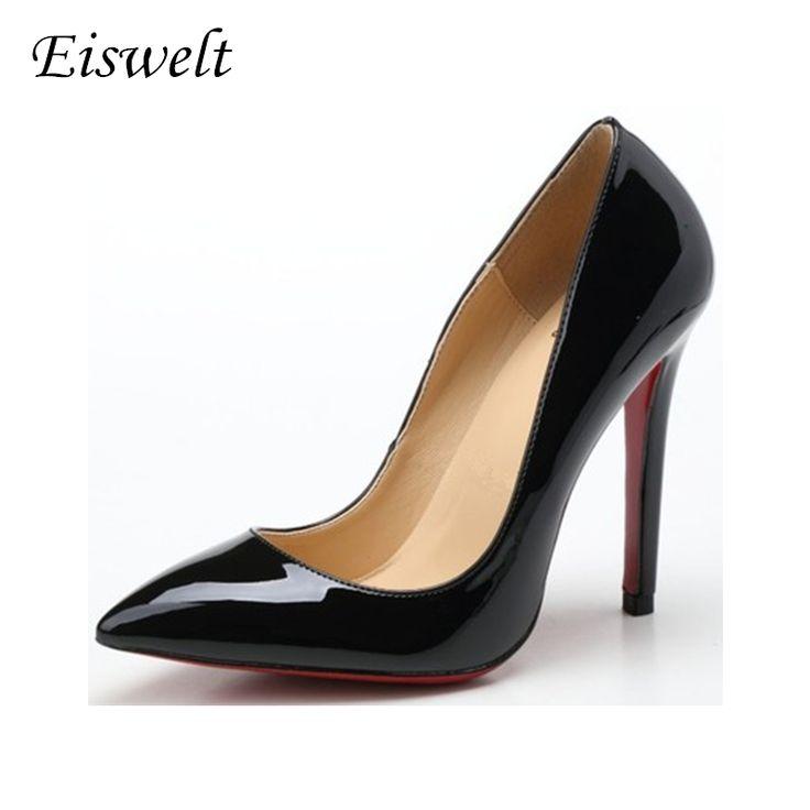 Красные нижние Высокие Каблуки Женщин Насосы Блеск Туфли На Каблуках Женщина Свадебные Партия Обуви Золото Серебро Синий # WYL110 #men, #hats, #watches, #belts, #fashion, #style