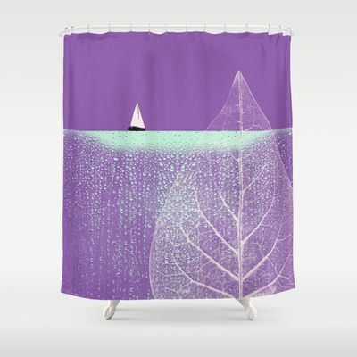 Ocean Wonderland I Shower Curtain by Pia Schneider [atelier COLOUR-VISION] - $68.00 #art #surrealism #nature #ocean #landscape  #sea #leave #sailboat #sailing #waterdrops #radiantorchid #modern #decor #wonderland #home #bathroom #gift #curtain #decoridea #showercurtain #kunst #duschvorhang #bathroomdecor