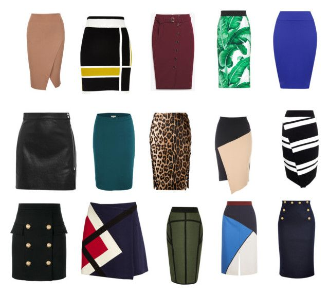 """""""DC skirts"""" by jesmondee on Polyvore featuring River Island, White House Black Market, Dolce&Gabbana, WearAll, IRO, A.L.C., Altuzarra, MSGM, RED Valentino and ESCADA"""