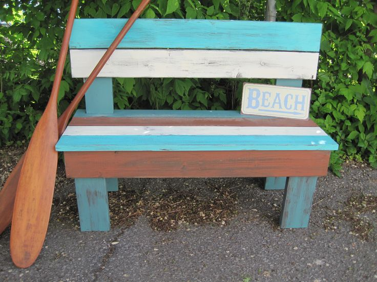 Whether on a dock, on a porch or in your yard, this piece adds a perfect touch of whimsy to your space!!!  We custom make these benches to your exact size and colour requirements.  We have made them using the colours of flags, favorite colours and natural browns.