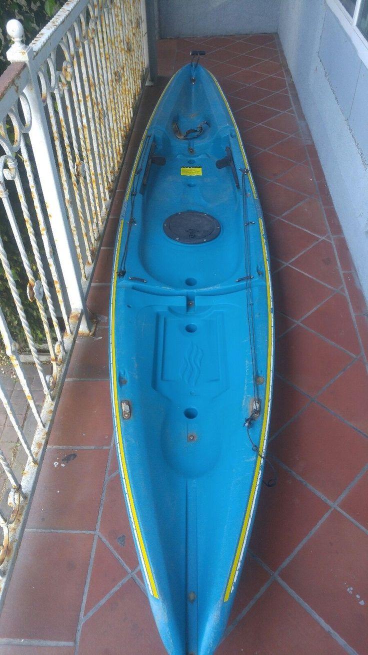 13' Aquaterra Kahuna Sit On Top Kayak One Seater W/ 2 Piece Paddle