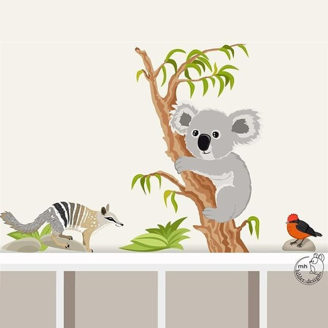 """Wandtattoo """"Koala und Numbat"""" Koalabär Wandsticker"""