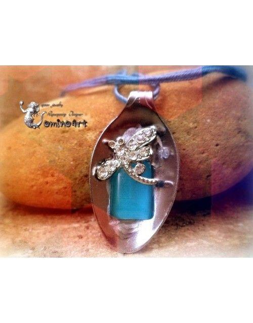 Μενταγιόν sapphire λιβελούλα