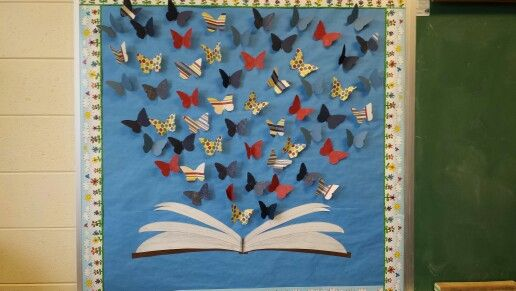 Butterfly Classroom Decoration ~ Book butterfly bulletin board education pinterest