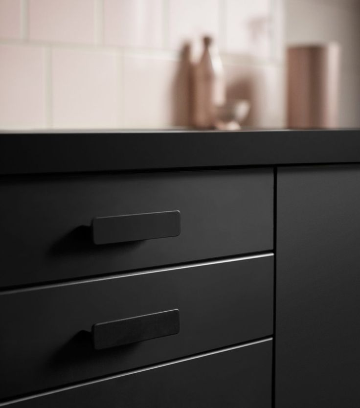 IKEA Kungsbacka kitchen fronts made from recycled plastic bottles. Launching February 2017.
