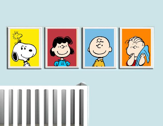 if i ever have a baby - these are a must: Charlie Brown Nursery Prints by ColiseumGraphics on Etsy, $30.00