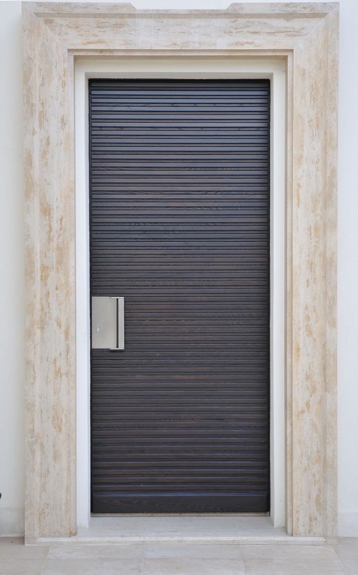 lines in the wood entry doors