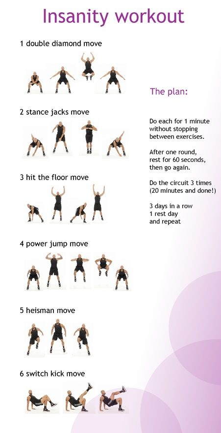 20 min insanity workout - for when I can't do the whole workout