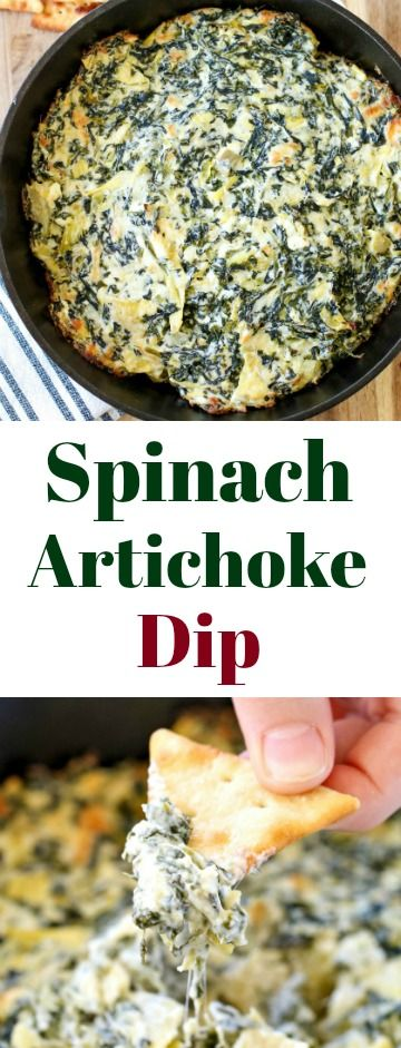 If you're looking for a crowd-pleasing appetizer that is sure to be a hit (and is super easy), this hot, cheesy Baked Spinach Artichoke Dip Recipe is it!