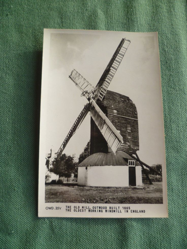 Old Mill, Outwood antique post-card - real photographic published - Friths c1900