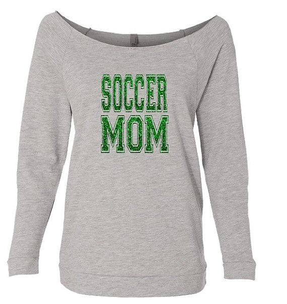 Soccer Mom Shirt. Soccer Mom.Soccerball Mom. by TNTCustomApparel