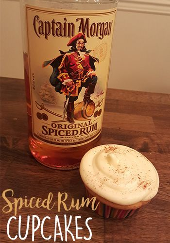 Captain Morgan Spiced Rum French Vanilla Cupcakes