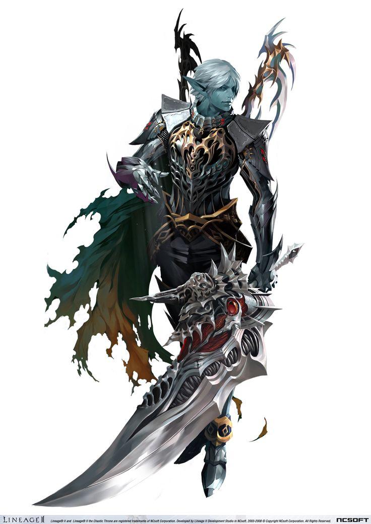 Lineage2_DarkElf But defenitely inspired by Shaiya Dark Assassins class