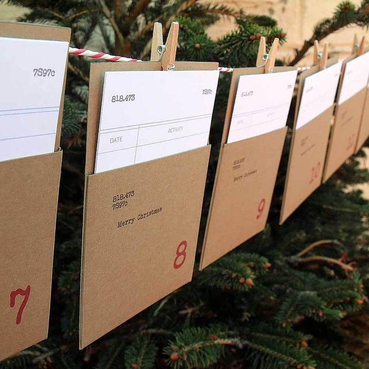Library Cards & Pockets Advent Calendar