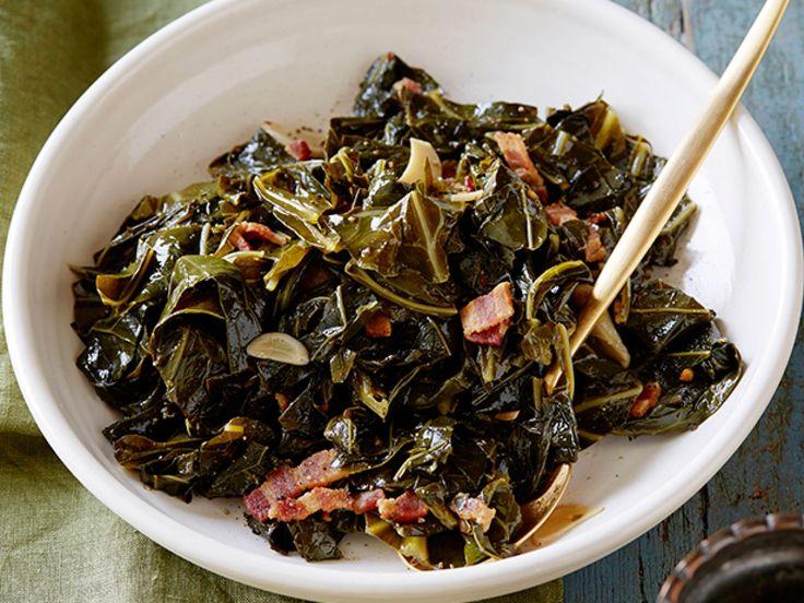 Braised Collard Greens recipe from Melissa d'Arabian via Food Network