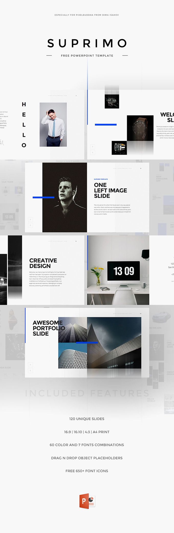 Suprimo PowerPoint Template - download freebie by PixelBuddha