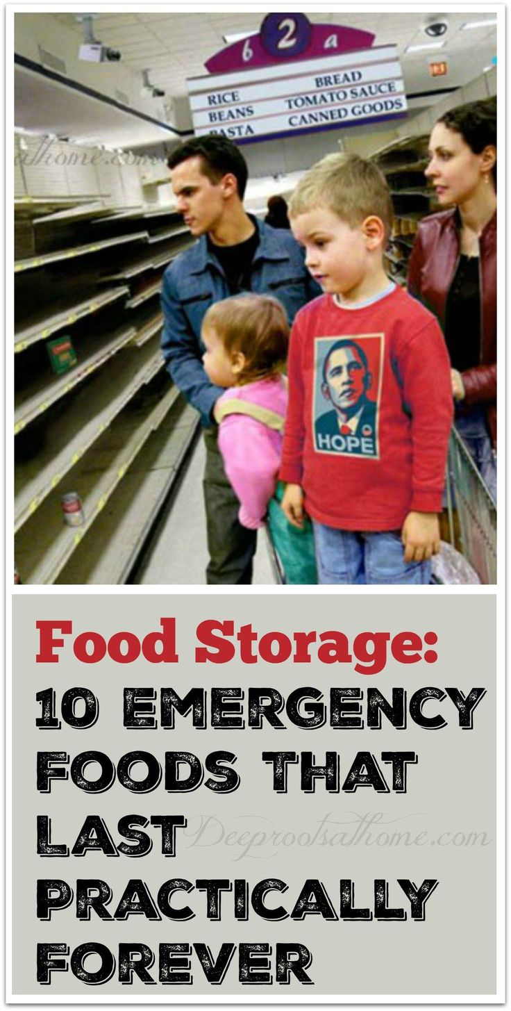 Food Storage: 10 Emergency Foods That Last Practically Forever