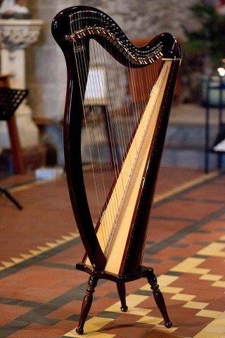 The Irish harp is the national instrument of Ireland.
