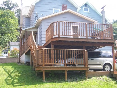 62 best images about carports garages on pinterest for Deck over garage plans