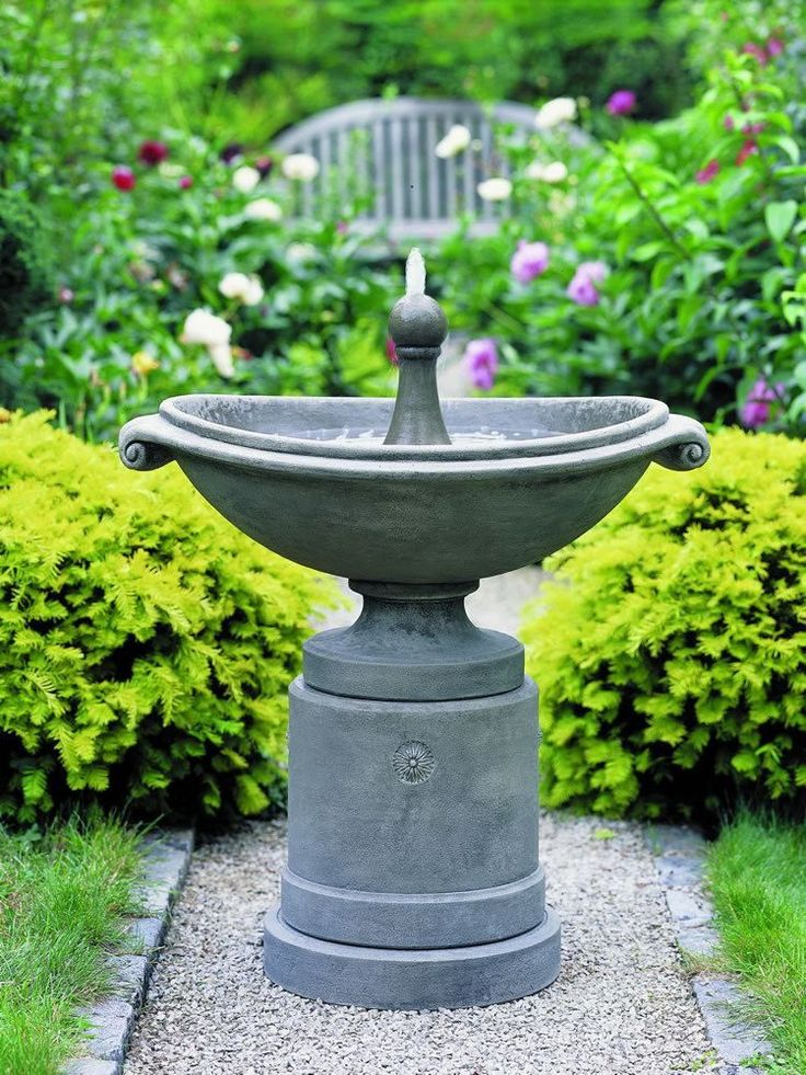 Free Shipping and No Sales Tax on the Medici Ellipse Garden Water Fountain from the Outdoor Fountain Pros.