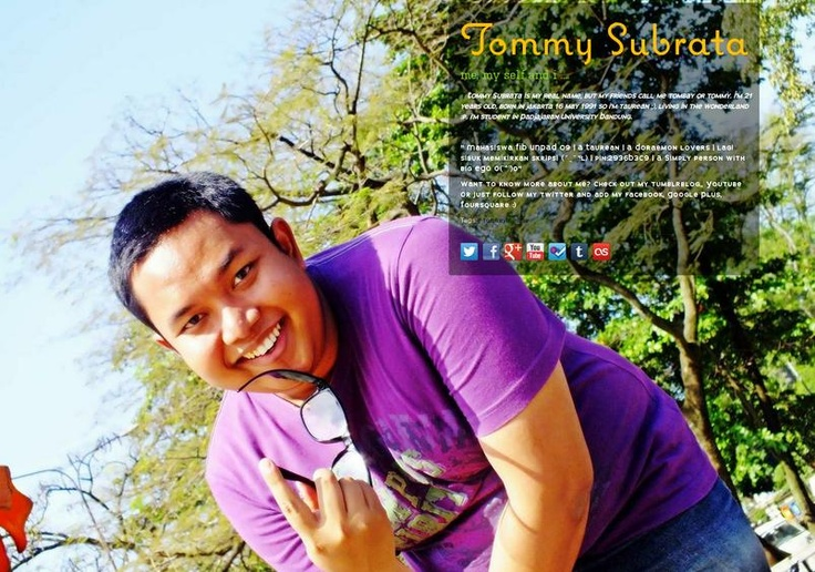 Tommy Subrata's page on about.me – http://about.me/tombay