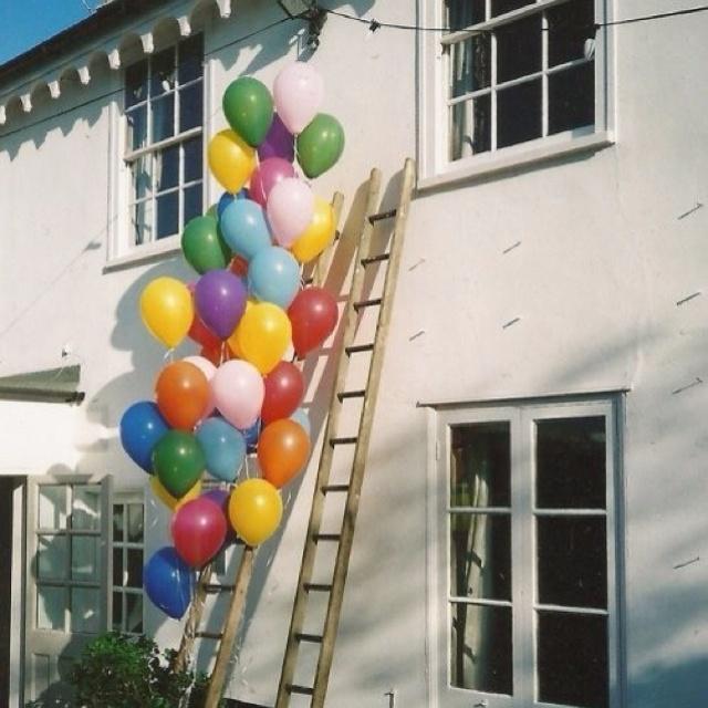 Outside party ballons