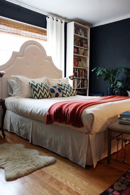 321 best dark rooms images on pinterest dark rooms for Dark paint in bedroom