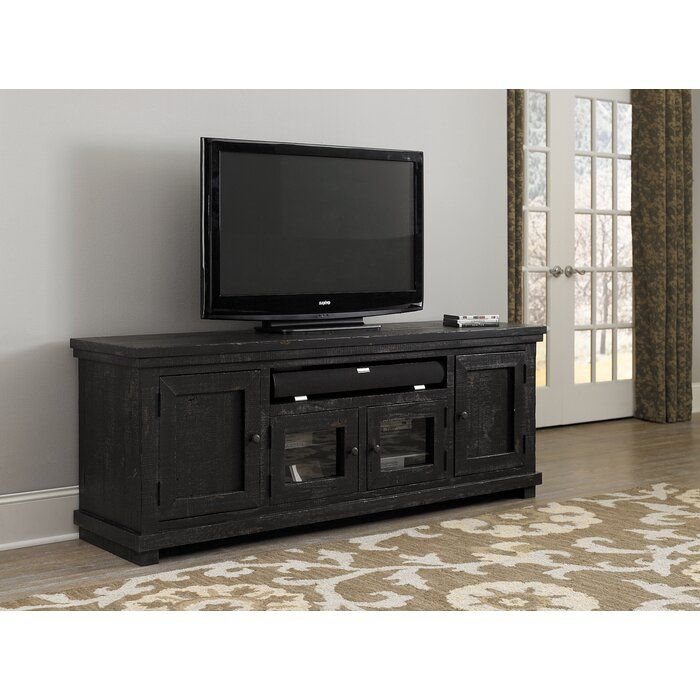 Pineland Tv Stand For Tvs Up To 85 In 2020 Black Tv Stand Progressive Furniture Tv Stand